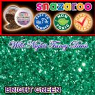 SNAZAROO FACE PAINT GLITTER DUST BRIGHT GREEN 12ML TUB